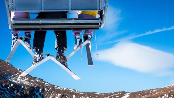 冬季去滑雪