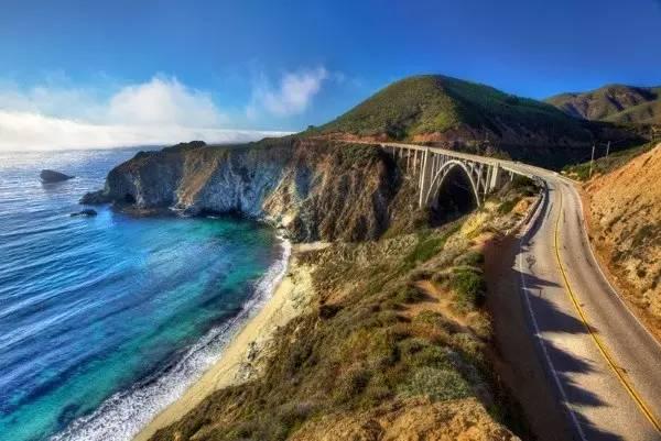加州大瑟尔一号公路的美景图片