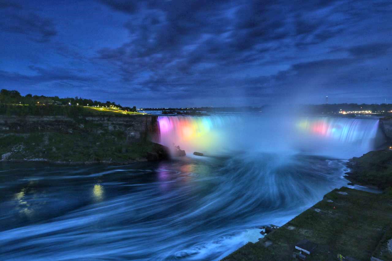 加拿大瀑布的壮观景色