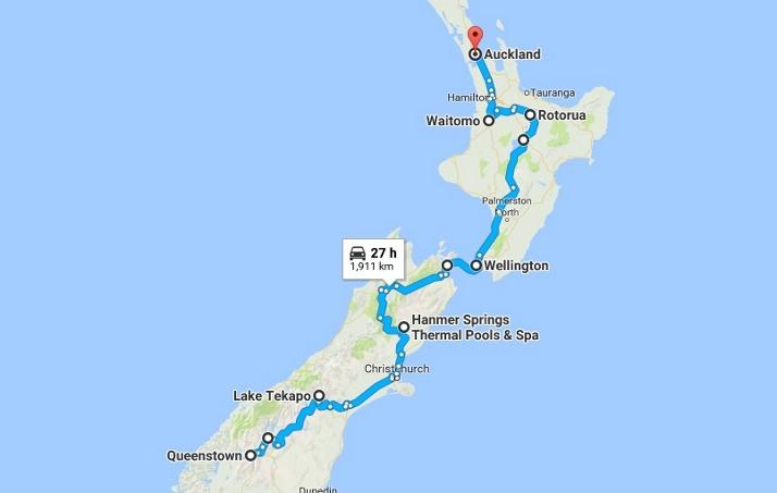 南岛-北岛房车自驾路线行程