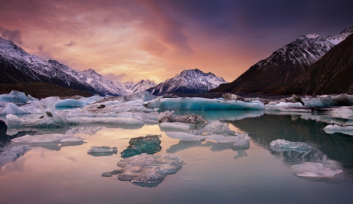 库克山旅行-靠近冰川