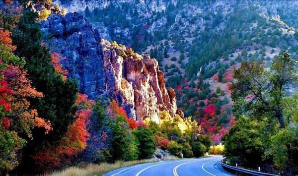 房车自驾沿途风景-洛根峡谷
