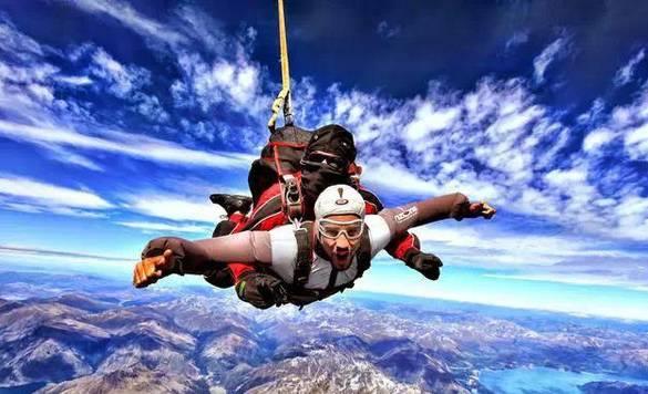 新西兰·皇后镇跳伞区跳伞