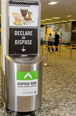 新西兰机场提供的检疫箱
