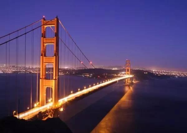 旧金山金门大桥的迷人美景