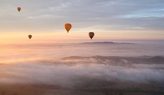 在澳大利亚·亚拉河谷乘坐热气球