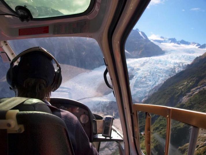 直升机游览库克山塔斯曼冰川