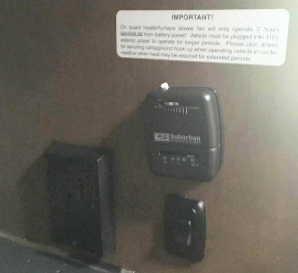 房车内部暖气系统