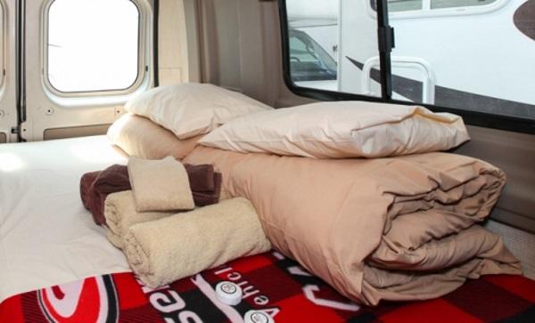 美加房车上的配置-床上用品
