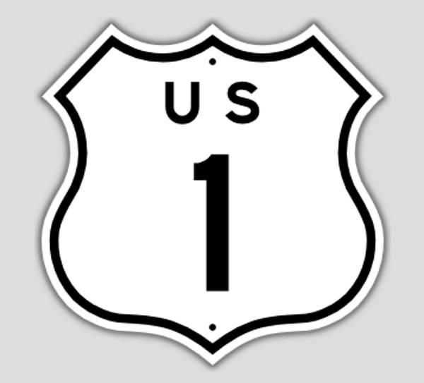 美国房车自驾-美国一号公路标识