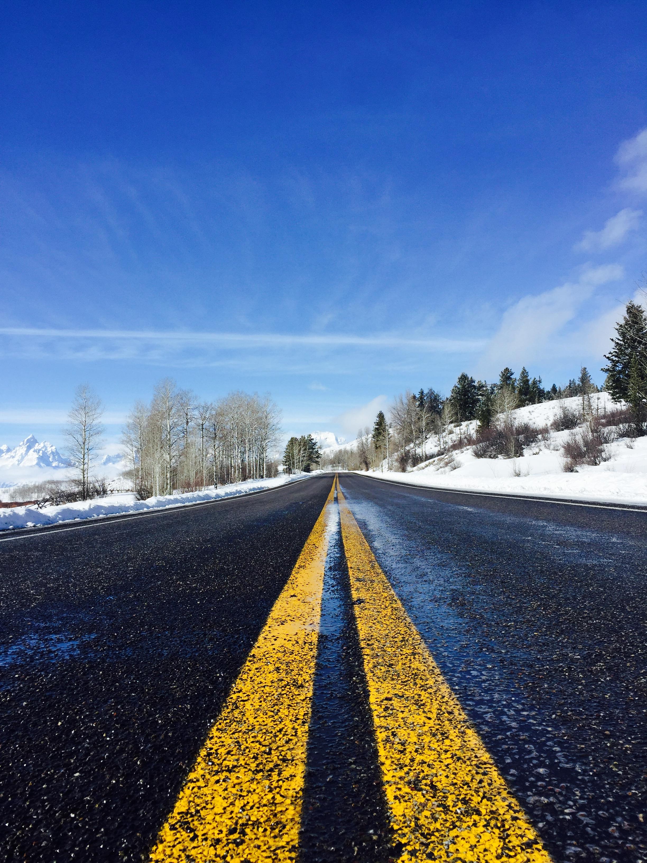 美西的冬天景色