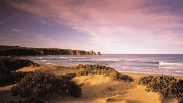 澳洲菲利普岛的沙滩景色