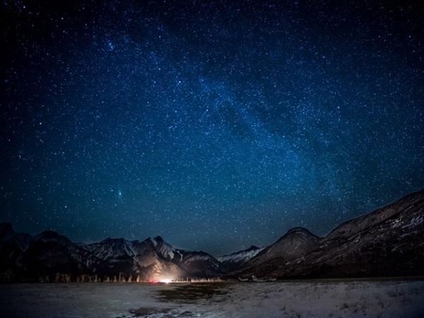 贾斯伯国家公园的星空美景