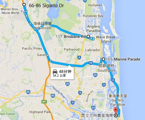 黄金海岸营地地图