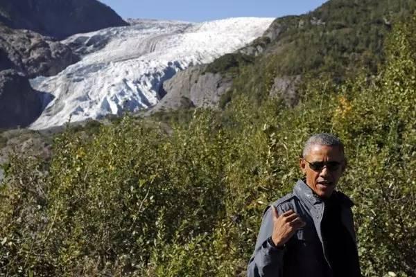 奥巴马在阿拉斯加