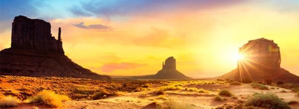 美国落日风景