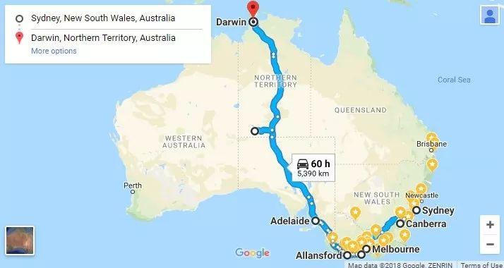 澳大利亚房车自驾游路线