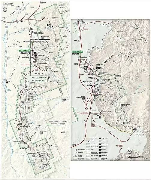 布莱斯峡谷地图