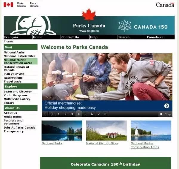 加拿大国家公园管理局官网
