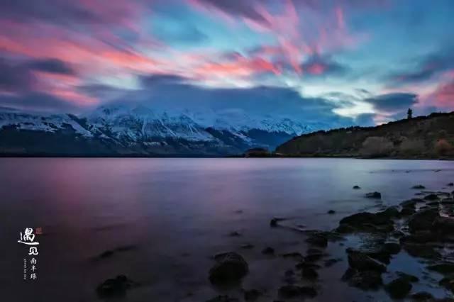 新西兰冬日彩霞