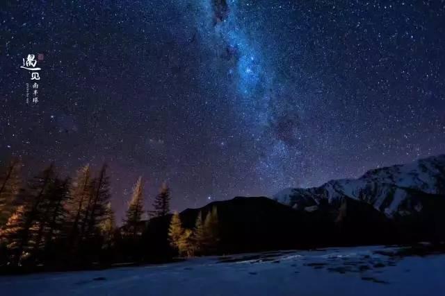新西兰冬夜星空