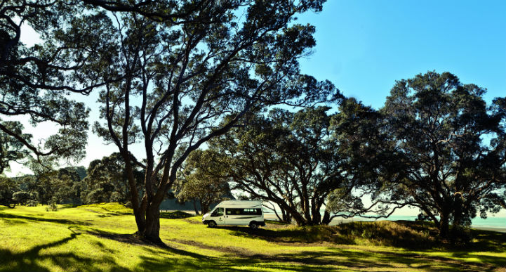 campervan in nature