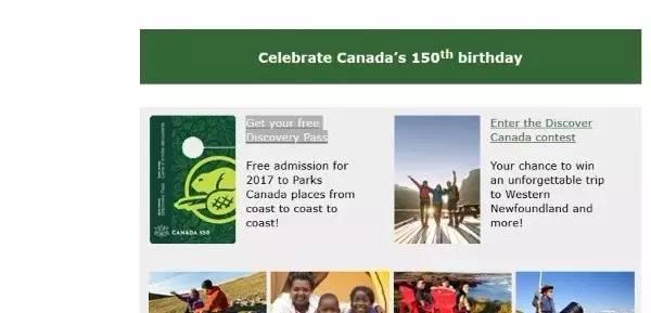 获得加拿大国家公园免费通行证