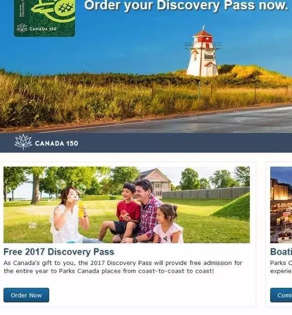 预订加拿大国家公园免费通行证