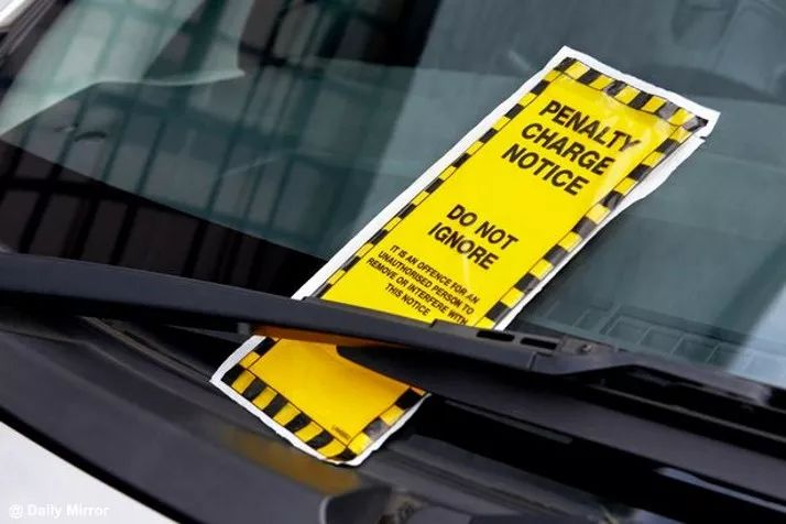 海外房车自驾游停车罚单