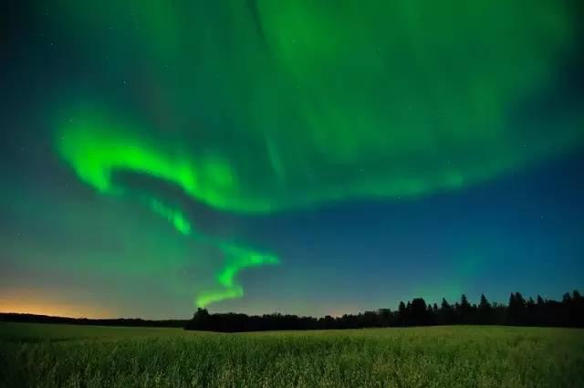 加拿大麋鹿岛国家公园极光
