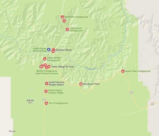 峡谷园区营地分布