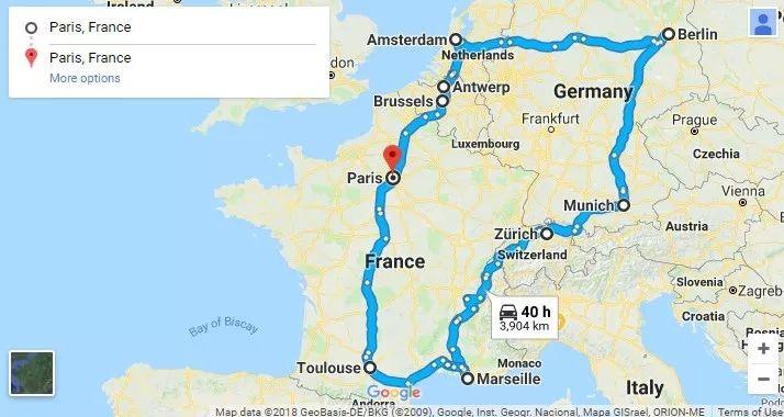 欧洲房车自驾游多国旅行