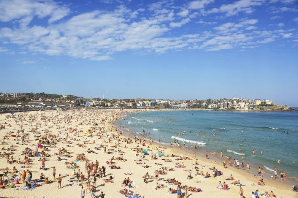 Sydney's Bondi Beach is the place to be when the sun's out.