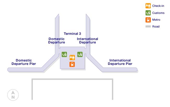 Delhi airport terminal map