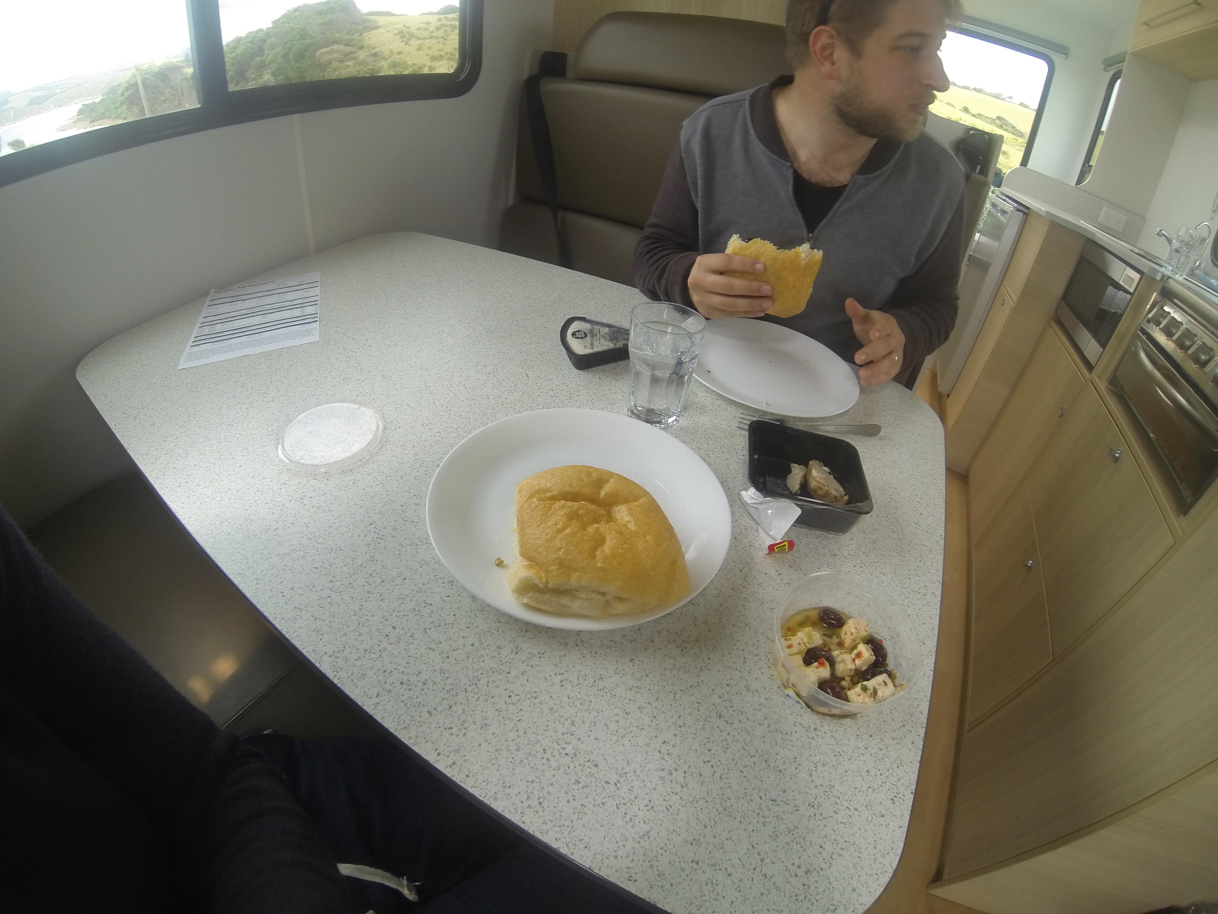 Maui 6 berth camper interior