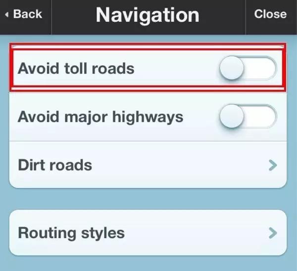 加拿大GPS导航设置-避开收费公路