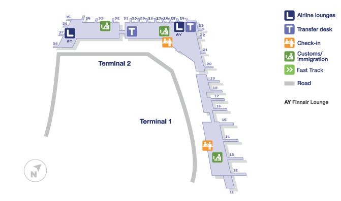 Helsinki Airport Terminal Map