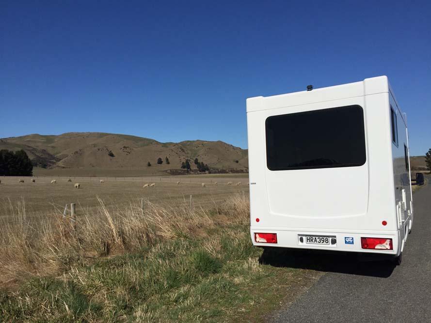 Suivre un camping-car