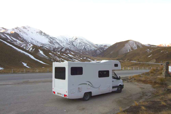 Take the time to pull over in your motorhome every now and again to admire the scenery.