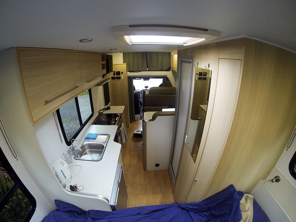 inside a motorhome