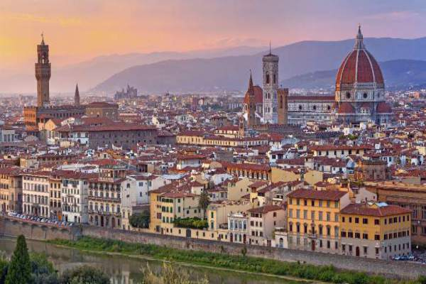Florence in the early evening