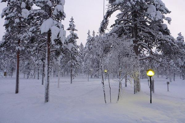 Ivalo is a winter wonderland