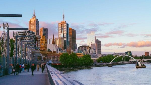 澳洲自驾之旅-墨尔本的城市街景