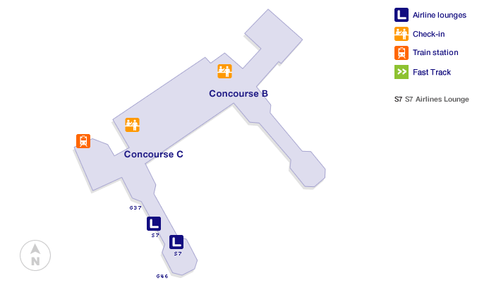 Moscow Domodedovo Airport Terminal Map