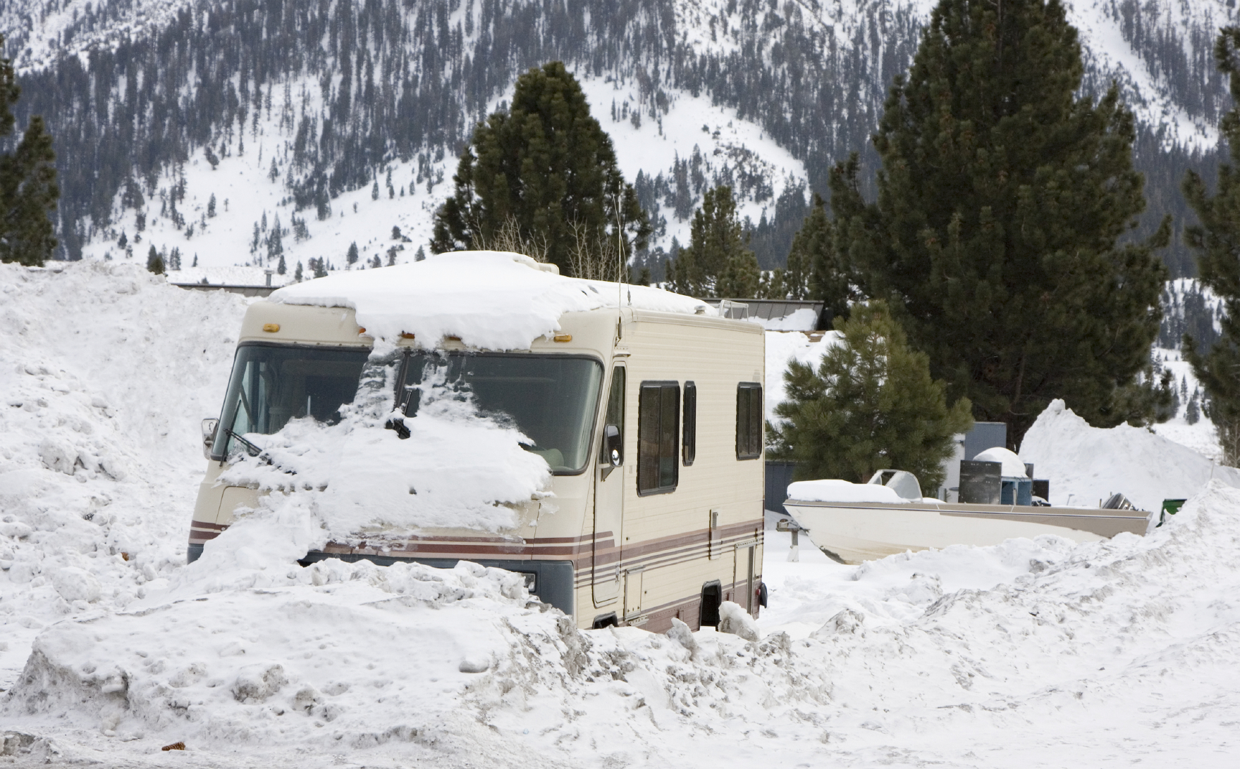 RV in winter
