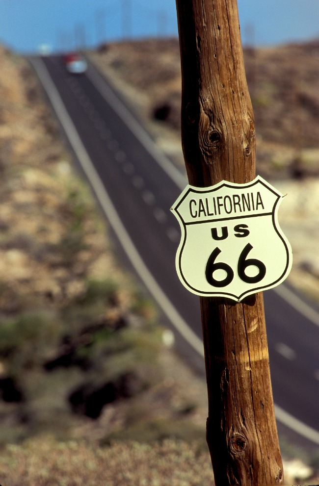 USA road sign