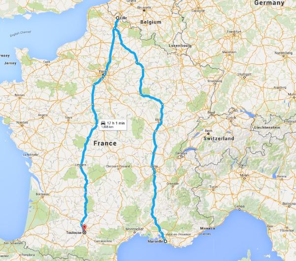 Russia UEFA roadtrip map