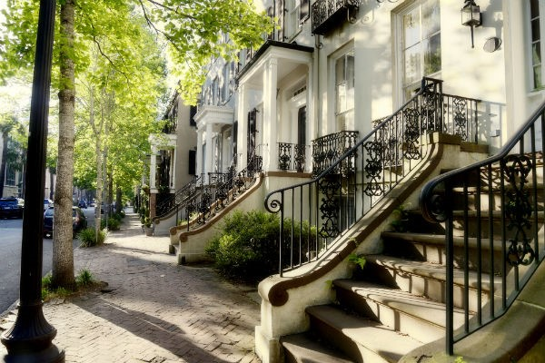 Savannah's charming old buildings are an integral part of the city's attraction.