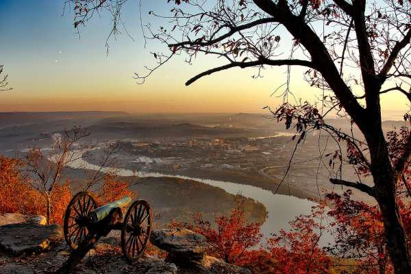 Watching the sunset over Chattanooga in autumn.