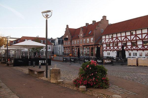 Quiet street scenes in Aalborg